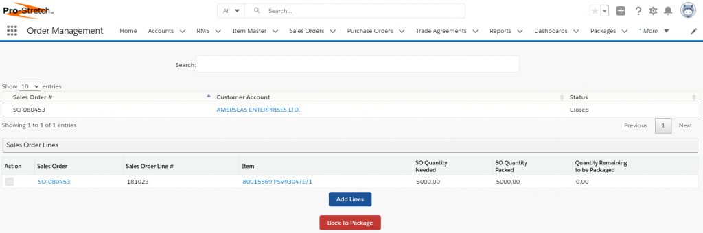 Screenshot decpicting an administrative screen within the Salesforce Platform.