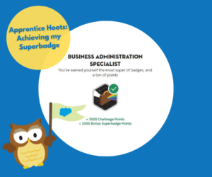 Apprentice Hoots: Tips to achieving your first Superbadge